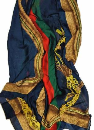 Шелковый шарф стиль gucci /2648/
