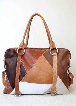 Кожаная сумка vera pelle формат а 4
