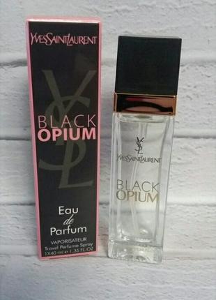 Мини парфюм дорожная версия 40 мл ysl black opium роскошный вечерний аромат