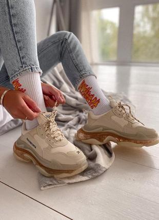 Кросівки  triple s rose gold  кроссовки