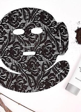 Маска-плёнка с кружевом dermovia, устраняет чёрные точки и освежает цвет лица