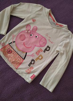 Красивая кофточка с рукавом от peppa pig свинка пеппа young dimensions