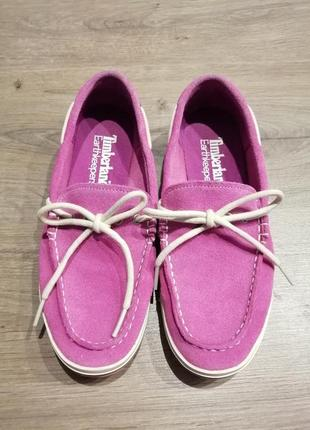 Timberland, туфли замшевые, мокасины, лоферы женские
