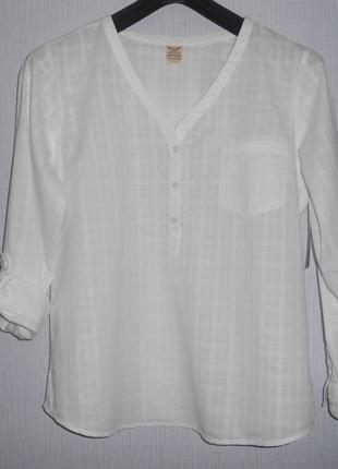 Классная летняя рубашка с длинным рукавом или 3/4 faded glory размер xl