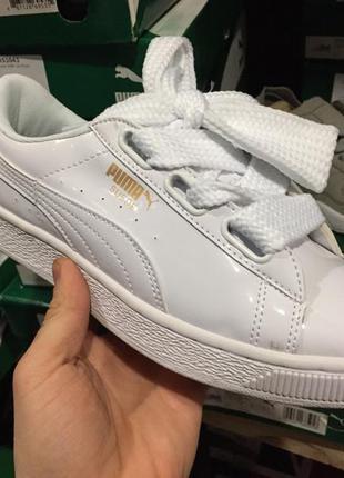 Женские кроссовки puma basket heart patent white Puma 8f796e780e3ff