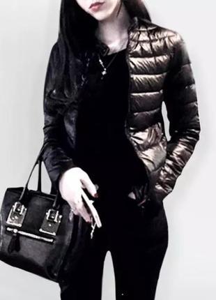 Классическая демисезонная курточка с воротником стойка