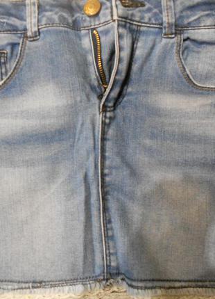 Джинсовая мини юбка zara