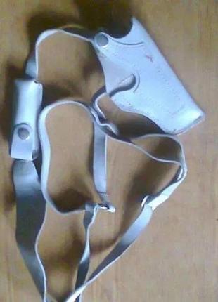 Новая стильная кобура оперативная скрытого ношения чистая кожа с карманом магазином
