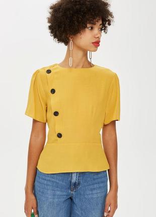 Горчичная блуза topshop