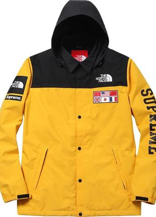 Ветровка the north face x supreme expedition coaches yellow