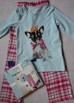Детская теплая пижама lupilu