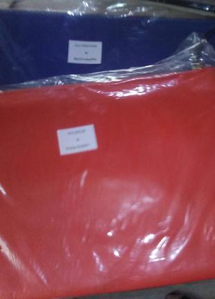 Клатч красный натуральная кожа  moss copenhagen  большой 30* 21 см