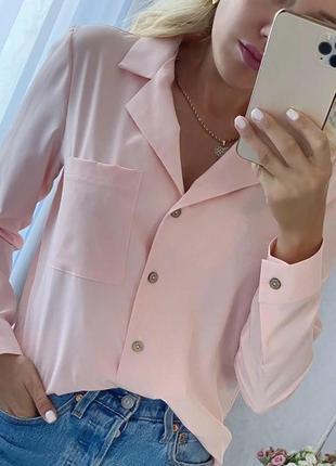 Рубашка женская универсального фасона в расцветках