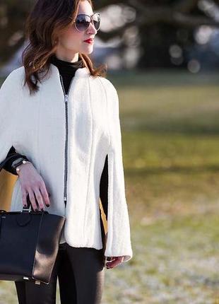 Zara кейп пальто накидка