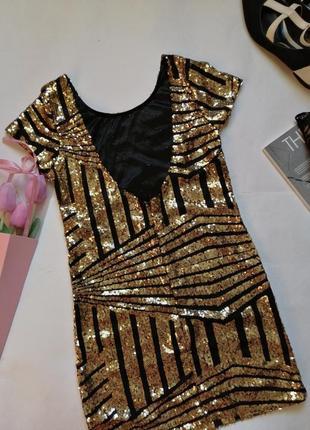 Блестящее платье, туника р хс- с