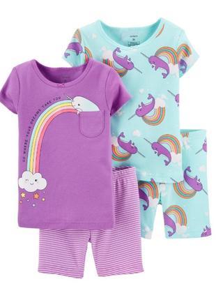 Летняя пижама для девочки рр.92-110 carter's (картерс)
