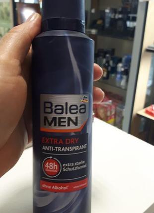 Дезодорант антиперспирант мужской balea men extra dry,200мл.
