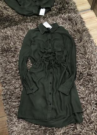 Платье рубашка с длинным рукавом h&m
