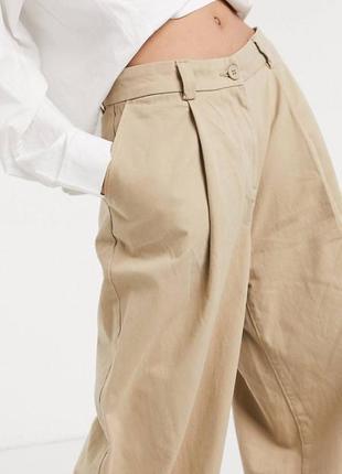 Роскошные брюки палаццо прямые брюки мужского кроя высокая посадка weekday осень 2020