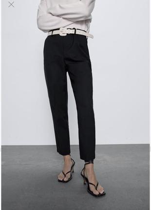 Черные штаны брюки офисные классические zara оригинал зара стрелками m м стильные