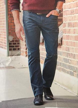 Джинсы стрейчевые серые штаны мужской деним без потертостей германия