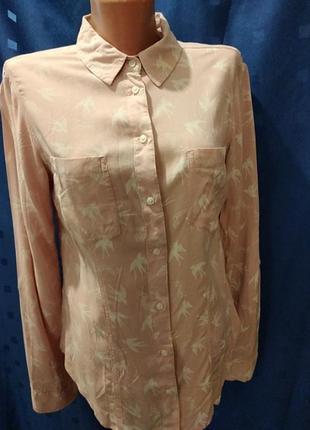 """Лёгкая блуза-рубашка  длинным рукавом с принятом """"ласточки"""" бренда tally weijl"""