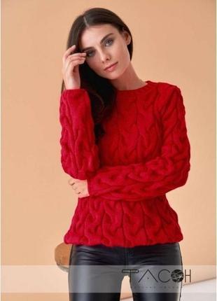 Вязаные свитеры косичкой