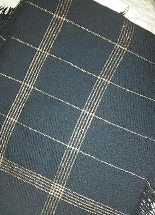 Шаль платок палантины черный с люрексом