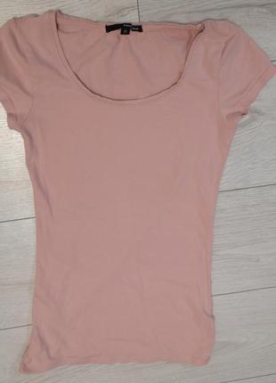 Базовая футболка  пудрового цвета tally weijl xs