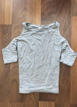 Майка топ футболка з відкритими плечима