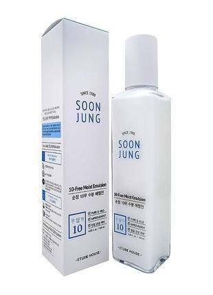 Эмульсия для чувствительной кожи etude house soon jung 10 free moist emulsion