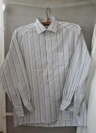 Рубашка светлая в полоску marvelis