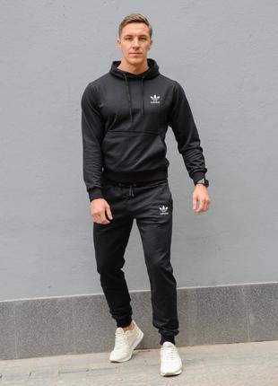 Черный мужской спортивный костюм adidas (адидас)