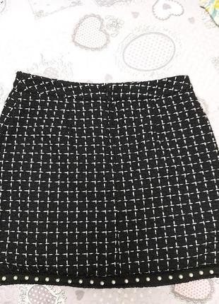 Твидовая юбка шерсть