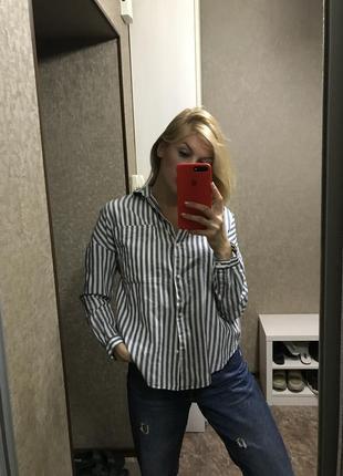Рубашка в полоску натуральная