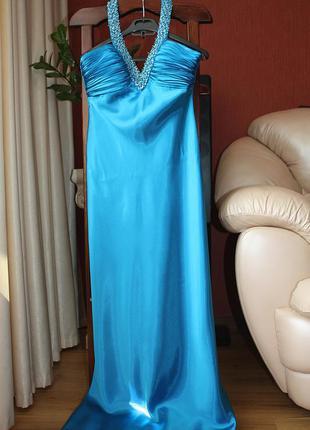 Королевское платье в пол на выпускной