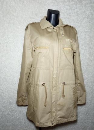 Легкая куртка в стиле милитари на подкладке