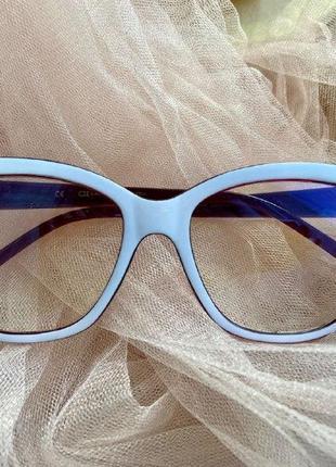 Имиджевые очки с антибликом защита от компьютера/телефона/телевизора