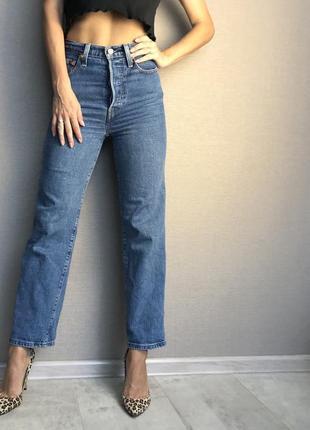 Джинсы levi's ribcage высокая посадка,винтаж мом джинсы