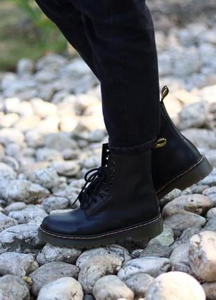 Dr. martens 1460 black 🆕 женские ботинки  мартинс 🆕 черные на коричневой подшве