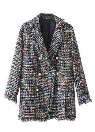 Твидовый пиджак zara
