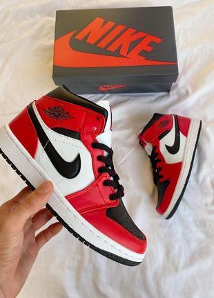 Nike jordan 1 retro 🆕 женские кроссовки найк джордан 🆕 красные/черные