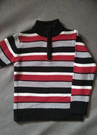 Свитер кофта с воротником-стойкой label, сша, мальчику на 4-5 лет