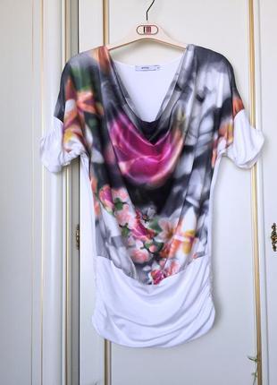 Imperial италия оригинал блуза туника девушка в розах s/m эксклюзив