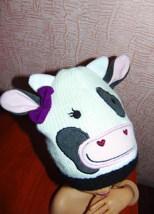 Шапка коровки на 3-5 лет
