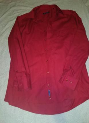 Бордо рубашка для стильного мужщины-xl xxl 42р