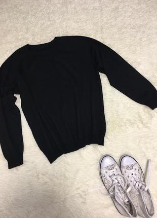 Свитер кофта)чёрный свитер «база»