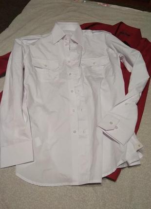Белая базовая свободного покроя рубашка качество 👍- l xl xxl