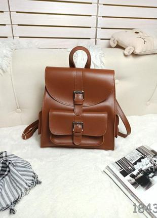 Рюкзак цвет терракотовый рыжий