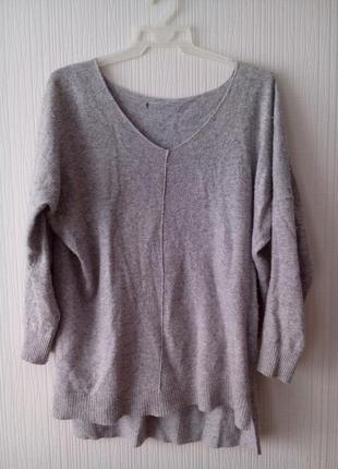 Свитер пуловер с удлиненной спинкой atmosphere